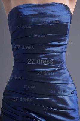 Modern Strapless A-line Sleeveless Evening Dress UK Floor-length Ruffles Zipper_2