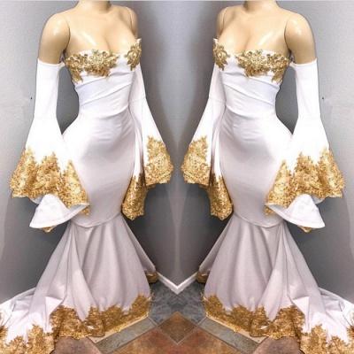 Long sleeve prom Dress UK with gold appliques, mermaid evening Dress UK BA8276_3