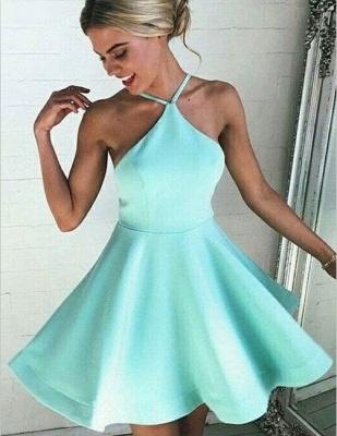 Newest Halter Mini Homecoming Dress UK Zipper Sleeveless High Quality_1