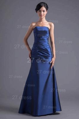 Modern Strapless A-line Sleeveless Evening Dress UK Floor-length Ruffles Zipper_1