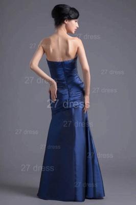 Modern Strapless A-line Sleeveless Evening Dress UK Floor-length Ruffles Zipper_5