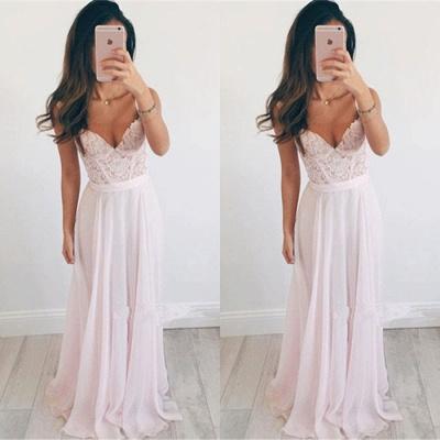Sexy Sweetheart Lace Prom Dress UK Long Chiffon Party Gowns BA2665_2