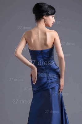 Modern Strapless A-line Sleeveless Evening Dress UK Floor-length Ruffles Zipper_4