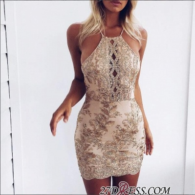 Sleeveless Elegant Backless Mini Lace-Appliques Tight Short Homecoming Dress UK BA6717_4