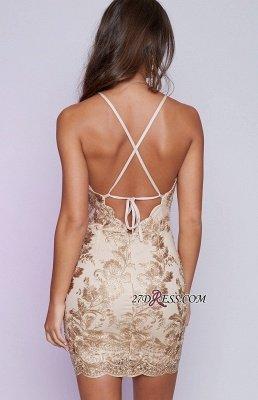 Sleeveless Elegant Backless Mini Lace-Appliques Tight Short Homecoming Dress UK BA6717_3