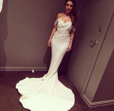 Glitz Off-the-Shoulder Sequins Prom Dress UKes UK Mermaid Floor Length_3