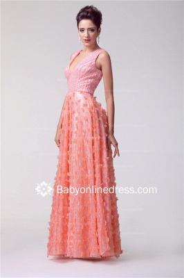V-neck Appliques Luxury Prom Dress UK Beadings Tulle_2