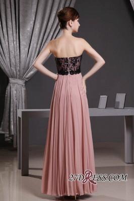 Black Long Lace Chiffon Sweetheart Luxury Bridesmaid Dress UK_3