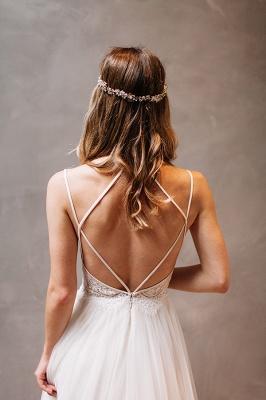 Modern Sweetheart Sleeveless Wedding Dress Tulle lace Beads WE0164_4
