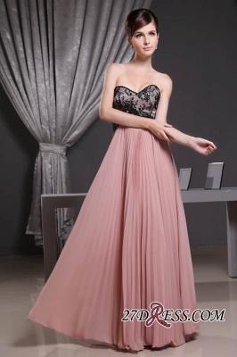 Black Long Lace Chiffon Sweetheart Luxury Bridesmaid Dress UK_6