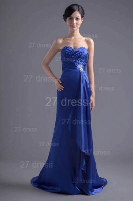 Modern Sweetheart Sleeveless Evening Dress UK Sweep Train Zipper_1