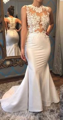 Gorgeous Sleeveless Mermaid Appliques Evening Dress UK On Sale_1