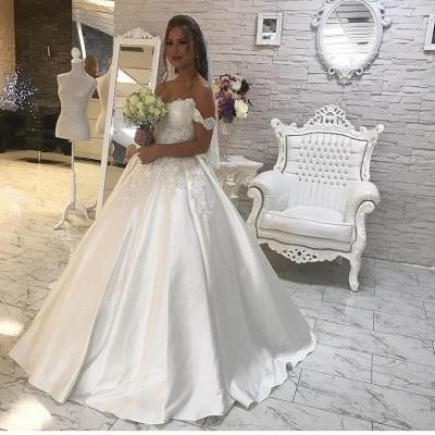Elegant Off-the-Shoulder Lace Wedding Dress Ball Gown Princess Bridal Wear_3