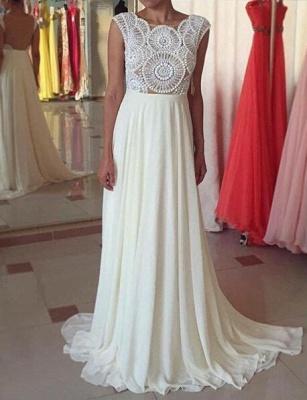 Newest Pearls Chiffon A-line Prom Dress UK Cap Sleeve Sweep Train_1
