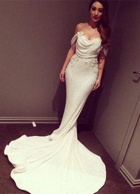 Glitz Off-the-Shoulder Sequins Prom Dress UKes UK Mermaid Floor Length_1