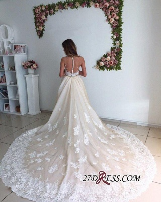 Sexy Mermaid Gorgeous Detachable-Cathedral-Train Tulle Lace Wedding Dresses UK_3