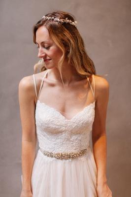 Modern Sweetheart Sleeveless Wedding Dress Tulle lace Beads WE0164_1