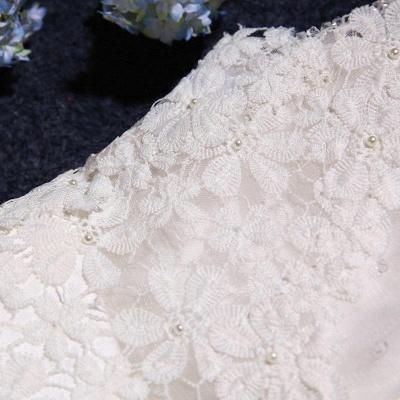 Stunning Sleeveless Scoop Neckline Wedding Dress tulle Lace Appliques_5