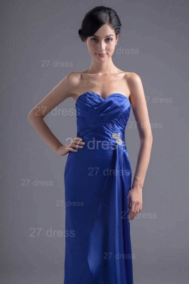 Modern Sweetheart Sleeveless Evening Dress UK Sweep Train Zipper_2