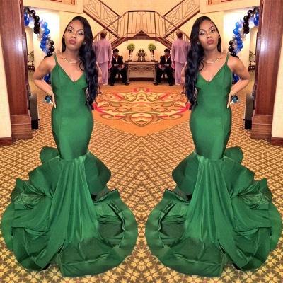 Charming V-Neck Mermaid Evening Dress UK Ruffles Party Gowns BK0 BA8446_3