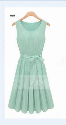 Cocktail Short Green Homecoming Dress UKes UK with Light Jewel Sleeveless Chiffon Ruffles Bow Sash Simple Gowns_1