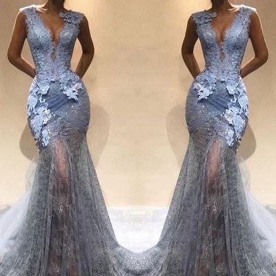 Sexy V-Neck Evening Dress UK Online | Mermaid Lace Prom Dress UK BA9567_3