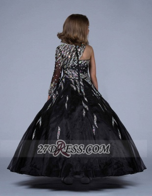 Glamorous Jewel Floor-length Girl Pageant Dress Ball Gown With Crystals_6