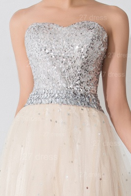 Gorgeous Sweetheart Sleeveless Sequins Evening Dress UK Lace-up_2
