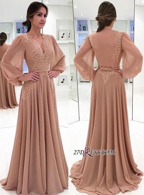 Long sleeve lace prom Dress UK,chiffon evening Dress UK online BA7906_1