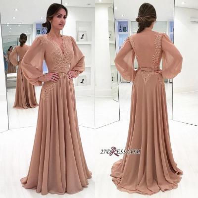 Long sleeve lace prom Dress UK,chiffon evening Dress UK online BA7906_2