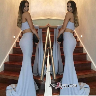 Floor-Length Mermaid Stunning Two-Pieces One-Shoulder Prom Dress UK_1