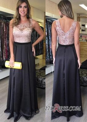 Luxury Floor-Length A-Line Sleeveless Lace Zipper Prom Dress UKes UK_1