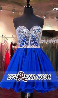 Sweetheart Mini Blue Lace-Up Crystal Homecoming Dress UKes UK BA3829_5