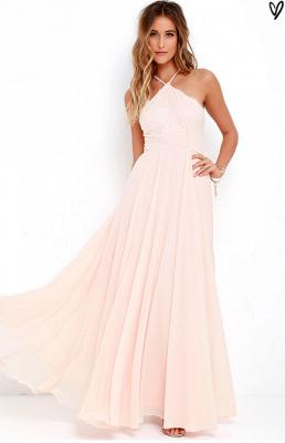 Sexy Halter Sleeveless Prom Dress UK Long Chiffon Lace TH046_1