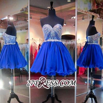 Sweetheart Mini Blue Lace-Up Crystal Homecoming Dress UKes UK BA3829_2