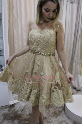 Lace homecoming Dress UK, short prom Dress UK on sale_1