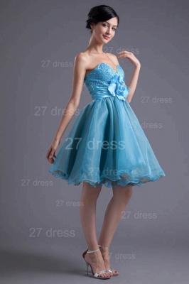 Cute Sweetheart Flower Crystals Cocktail Dress UK Short_6