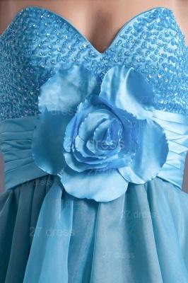 Cute Sweetheart Flower Crystals Cocktail Dress UK Short_4
