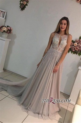 Sleeveless A-Line Crystal Sexy Court-Train Prom Dress UK_4