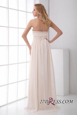 Sexy Open-Back Elegant Chiffon Beads Summer Sweep-Train Sleeveless Strapless Bridesmaid Dress UKes UK_4