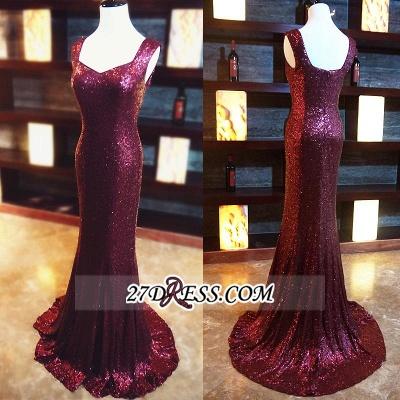 Sleeveless Long Mermaid Sequined Zipper Evening Dress UKes UK BA6839_2