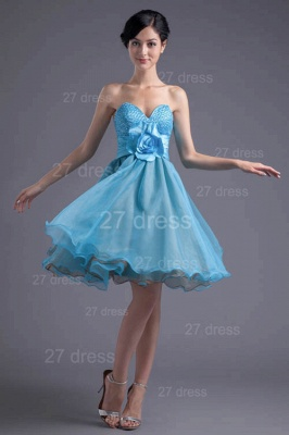 Cute Sweetheart Flower Crystals Cocktail Dress UK Short_2