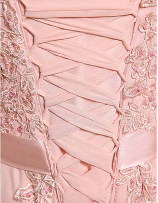Elegant A-line Jewel Chiffon Prom Dress UK Lace Appliques_3