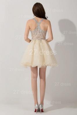 Elegant V-neck Sleeveless Short Homecoming Dress UK With Crystals_5