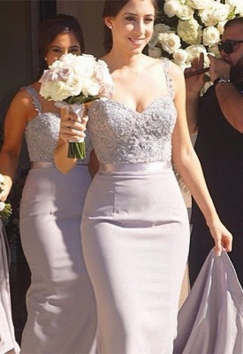 Modern Sweetheart Sleeveless Chiffon Bridesmaid Dress UK With Lace Appliques_2