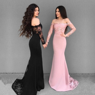Sexy Off-the-Shoulder 2019 Evening Dress UK | Mermaid Lace Formal Dress UK_2