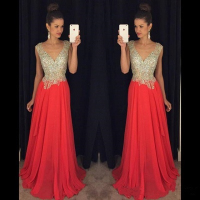 Luxury Crystal Open Back Evening Dress UK Cap Sleeve Long Chiffon Prom Gown_3