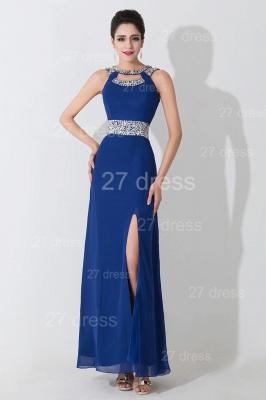 Modern Front Split Beadings Evening Dress UK Royal Blue_4