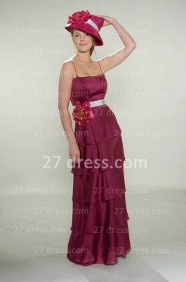 Gorgeous Spaghetti Straps Fuchsia Bridesmaid Dress UKes UK Layered Flowers Chiffon Wedding Party Gowns_2