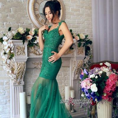Sheer-Skirt Appliques Green Luxury Off-the-Shoulder Mermaid Prom Dress UK PT0350_3